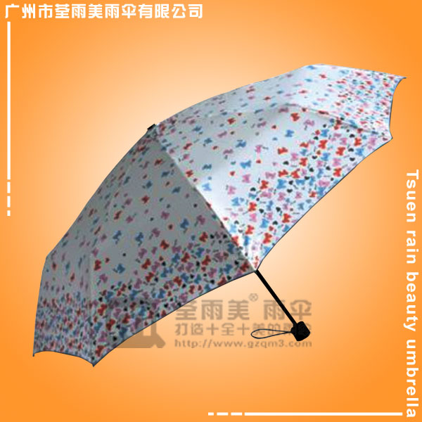 【广州雨伞厂】生产-数码印三折伞 折叠数码印广告伞 热转印雨伞