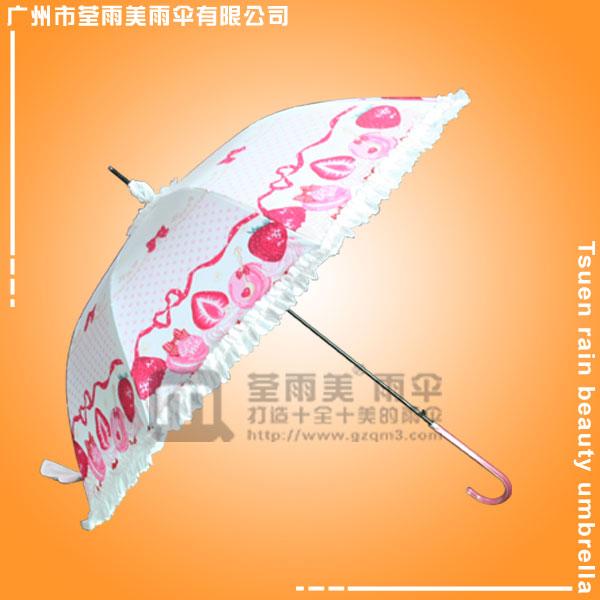 佛山雨伞厂 定做-花边公主伞 数码印花雨伞 热转印直杆伞