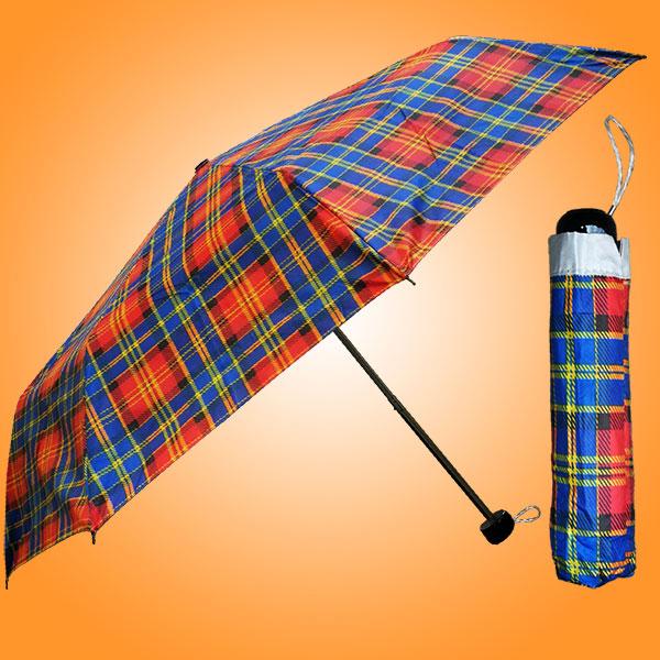 广州摩臣2官网雨具厂 雨具工厂 三折银胶格子伞 广告三折雨伞 雨具厂