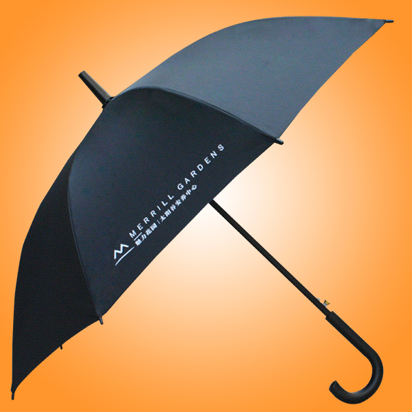 礼品广告雨伞?  魅力花园双骨雨伞 16骨直杆伞 孖骨广告雨伞