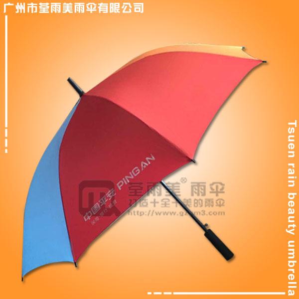 【雨伞厂家】制做--平安彩虹直杆伞 广告雨伞  雨伞定制