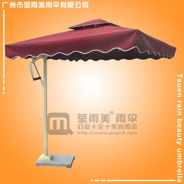 【会展单边伞】定做-保安单边波浪伞  2.7米单边伞  双顶广告单边伞