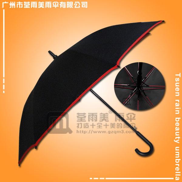 【高尔夫雨伞】生产-彩色伞骨高尔夫伞 七彩高尔夫雨伞 高尔夫弯钩雨伞